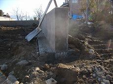 コンクリート基礎 完成