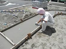土間コンクリートアプローチ