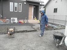 土間コンクリート下地