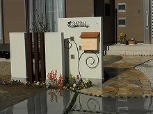 デザイン門柱