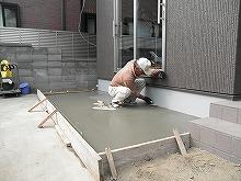 土間コンクリート打ち