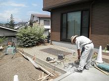 土間コンクリート打ち下地つくり